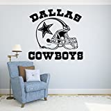 Dallas Cowboys Vinyl Decal Sticker Wall Football Logo NFL Sport Home Interior Removable Decor (22'high X 24'Wide)