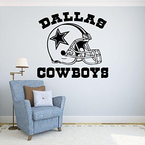 Dallas Cowboys Vinyl Aufkleber Aufkleber Wandsticker Wandtattoo Football Logo NFL Sport Home Innen herausnehmbarer Decor (55,9cm hoch x 61cm breit)
