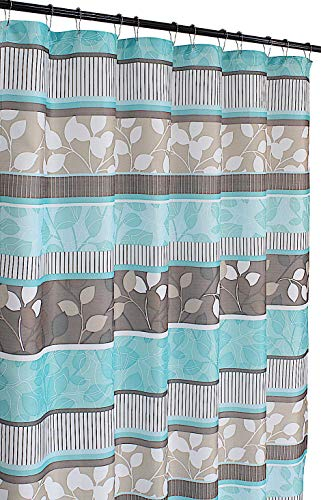 Serafina Home Aqua Blue Fabric Shower Curtain: Primitive...