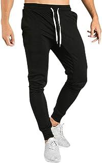 comprar comparacion Pantalones Hombre Cintura Ajustable por Cordón y Bolsillos Pantalones Moda Color sólido Pop Casual Deportivos Chándal de H...