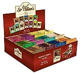 SIR WILLIAM'S TEEKISTE - Elegante Kartonkiste (Ersatzkiste) mit ausgewählten Teesorten. 180 Stk....