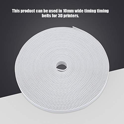 Cintura di temporizzazione 2GT; Cintura sincrona; Cintura sincrona in gomma; cinghia di distribuzione della stampante 3D, ampio motore Timing cinghia di qualità materiale gomma con gomma 10m (bianco)