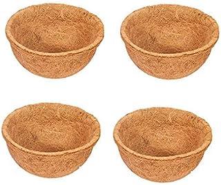 COIRGARDEN-Coco Fiber Liner - Hanging Planter POTS - Coir Liner - Basket Liner 8INCH - 4 Pieces