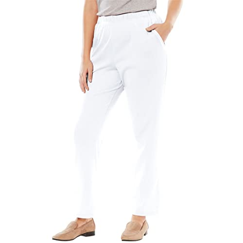 1789e75e9584f Woman Within Plus Size 7-Day Knit Straight Leg Pant
