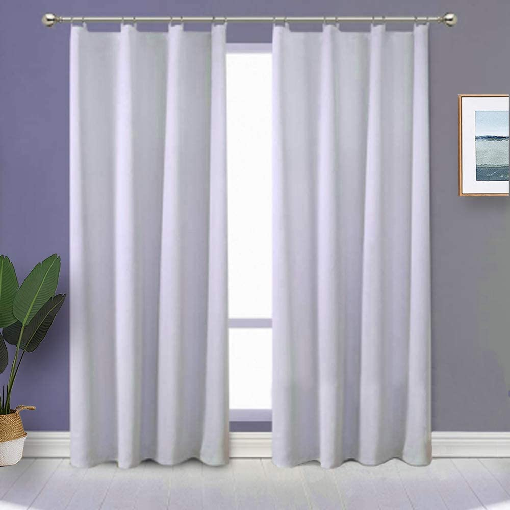RosieLily Blackout Curtain Liner 2 Panels Blackout Liners for Curtains Blackout Curtain Liners Thermal Curtain Liners Blackout Fabric Included 18 Ring Hooks Size 27 Inch by 92 Inch 27Wx92L