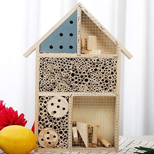 Insektenhaus Insektenhotel Bausatz, Bienenhotel Unterschlupf Schutz für Verschiedene Fluginsekten Nützlinge 35 * 25 * 4CM