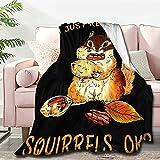 Atthadassi I Just Really Like Squirrels Ok Soft Blanket All Season Throw Blanket Fleece Blankets Bed Sofa 50'x40'
