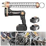 Hailong Cordless Electrical Grease Gun, Premium Car Grease Gun Set, 12000 PSI Max Pressure - 2 Reinforced Coupler (Color : Suitable bagged oil, Size : 2 x battery)