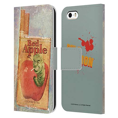 Head Case Designs Licenza Ufficiale Pulp Fiction Cigarette Arte Cover in Pelle a Portafoglio Compatibile con Apple iPhone 5 / iPhone 5s / iPhone SE 2016