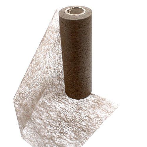 Vlies Band Tischband Breite 23cm Länge 20 Meter braun/Toffee