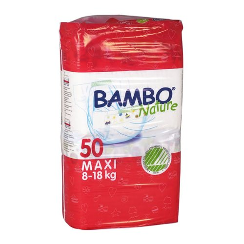 Abena Bambo Nature Premium Baby Diapers, Size 4, Maxi, 50 Count (Pack of 3)