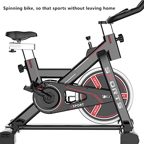 Indoor Bike Fitness Bike, Classic Black and Red Color Can be Placed in The Living Room Fashion Items, so That Sports Without Leaving Home, Easily Enjoy The Devil Figure.