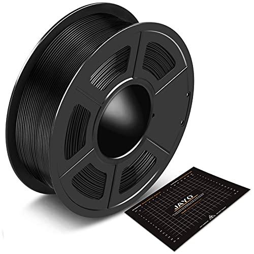 Filamento PLA 1.75 mm 1 kg Consumabili JAYO Stampante 3D Filamento Nero PLA 3D Stampante Filamento PLA 1 kg Bobina (2.2 Lbs), Precisione ± 0.02 mm, Fascio Nero con Superficie di Costruzione