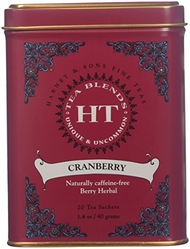 Harney & Sons, Cranberry, Caffeine Free, 20Count (Pack of 1)
