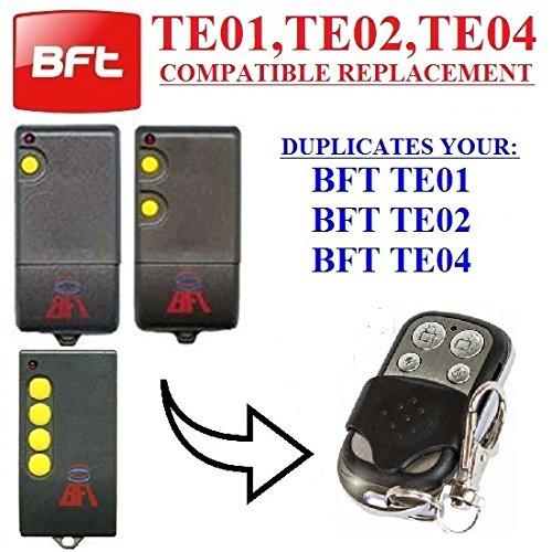 BFT TE01, BFT TE02, BFT TE04 Trasmettitore di telecomando compatibile per garage cancello automazione, chiave di alta qualità. 433,92 MHz codice fisso/clone