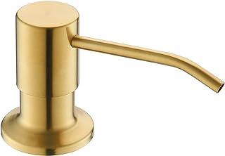 موزع صابون لحوض المطبخ أو موزع صابون الذهب للحوض أو موزع لوشن من ياردمونت مع زجاجة صابون كبيرة سعة 384 مل - ذهبي