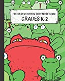 Primary Composition Notebook Grades K-2: Frogs And Red Toad 1/2 Handwriting Practice & Drawing Journal 8x10' 120 Pages Wide Ruled Paper For Kids
