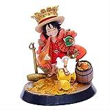 Holiny Anime One Piece Monkey D Luffy Withtreasure PVC Figura De Acción Colección Modelos Juguetes 2...