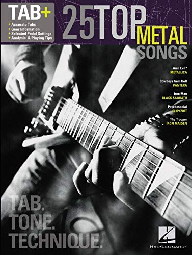 25 Top Metal Songs (TAB Tone Technique): Songbook, Tabulatur für Gitarre
