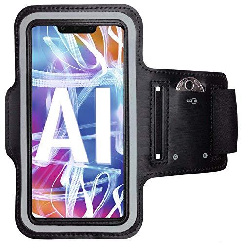 CoverKingz Armtasche für Huawei Mate 20 Lite Sportarmband mit Schlüsselfach, Laufarmband Sport, Handy Armband Schwarz