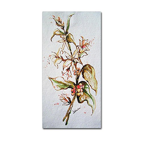 Coffee Flowers by Wendra, 16x32-Inch Canvas Wall Art
