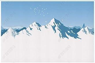 Papel Pintado Pared Papel Pared Cielo Azul Minimalista Montaña De Nieve Pájaro Volador Paisaje Natural Papel Pintado 3D Mu...