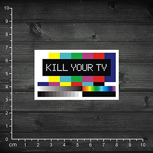 Single Kill Your TV Before It Killing Your Brain Etiqueta engomada de la Caja Pegatina para el Cuaderno