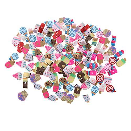 NC 200 Pcs Clay Beads Loose Spacer Beads for Girls DIY Bracelet Beads Craft