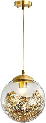 Pendelleuchten,Nordic moderne Coffee Shop Single Head Mirror Ball Platz Galvanik Kugel Glas Leuchter Dekoration,Silber 50 Cm