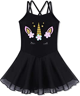 BAOHULU Girl's Skirted Leotards Camisole Cartoon Ballet Tutu Dress