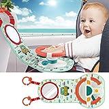 Kinder Auto Rücksitz Lenkrad Spielzeug mit Licht & Musik, Simulation Lenkrad Spielzeug, Musikalische Ausbildung Kinder Fahren Lernspielzeug für Kleinkinder