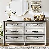 Better Homes & Gardens Modern Farmhouse 6-Drawer Dresser, Rustic White Finish