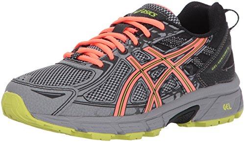 ASICS Women's Gel-Venture 6 Running-Shoes,Phantom/Coral/Lime,9 D US