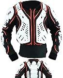 Kids Motorbike Motorcycle Biker MX Enduro Sports Body Armour Jacket - Red White & Black - Age 10