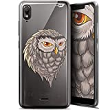 Wiko View 2 Go Case Ultra Slim for 5.93 Inches Owl Draw