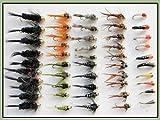 Troutflies Goldhead Nymphs Lot de 50 mouches de pêche à la truite...
