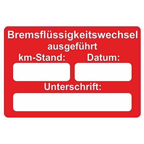 KFZ Serviceaufkleber / Inspektionsaufkleber 60 x 40 mm - 250 Stück - verschiedene Varianten (Bremsflüssigkeitswechsel)