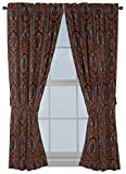 Jay Franco Marvel Black Panther Tribal 63' inch Drapes 4 Piece Set - Beautiful Room Décor & Easy Set up - Window Curtains Include 2 Panels & 2 Tiebacks (Official Marvel Product)
