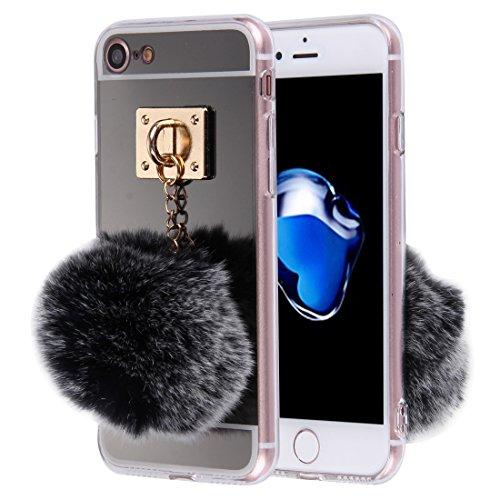 THengGUIFANG PHONE Case dunne beschermhoes van TPU-kunststof met galvanische spiegel met kogel voor iPhone 7, Goud