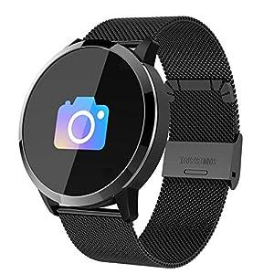 Reloj inteligente Q8 (completamente nuevo), para hombres y mujeres Reloj deportivo inteligente, pantalla táctil impermeable, monitor de oxígeno para la ...