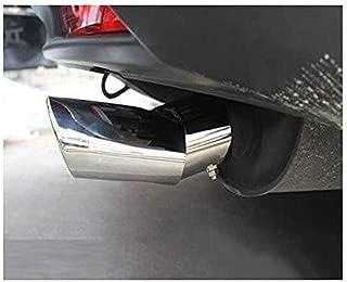 Universal 0001 Auto Doppel Doppel Twin Auspuff Twin Tip Trim Endrohr Sport Schalldampfer Edelstahl Chrom