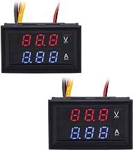 Sidougeri Voltm/ètre num/érique pour voiture et moto DC 5 V-48 V Panneau LED Affichage de la capacit/é de la batterie Voltm/ètre avec interrupteur marche//arr/êt