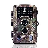 Camara Fototrampeo Caza 16mp 1080p con 3 Sensor Movimiento, Camara Trampa de Caza Nocturna 82ft/25m 940nm 46 Led Invisible, Velocidad 0.3s y Gran Angular de 120° 2.4 ''LCD, Impermeable, para Animales