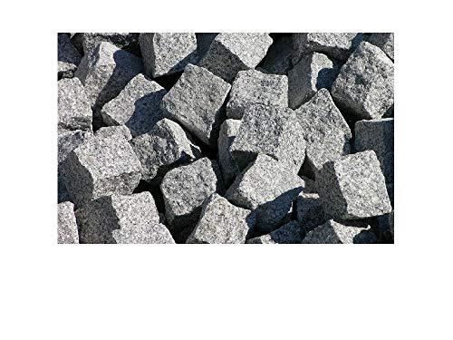 Grundpreis 139 EUR pro To. Granit Pflastersteine 7x9cm Kopfsteinpflaster Steinpflaster 1A QUALITÄT, GRAU, GEBROCHEN, OHNE VERSAND! MINDESTBESTELLMENGE 10 TONNEN!
