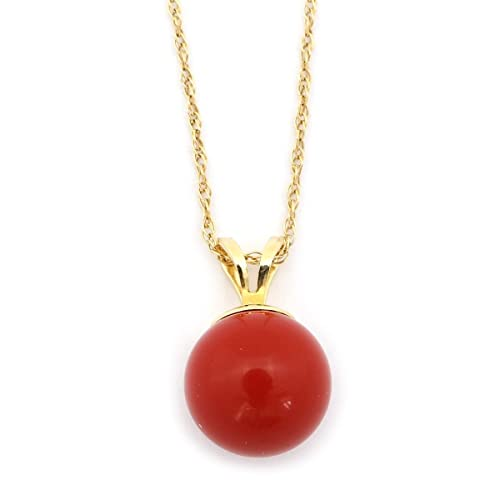 CORAL HORN RED CORAL 925 STERLING SILVER PENDANT NATURAL STONE Silver Chain