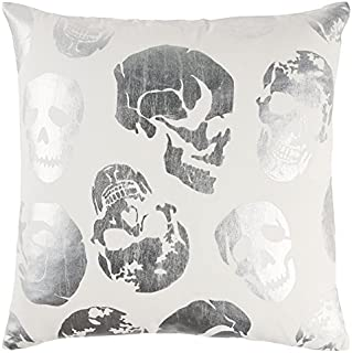 Rizzy Home OVST11054IVSV2020 Foil Printed, Cotton Duck Decorative Throw Pillow, 20