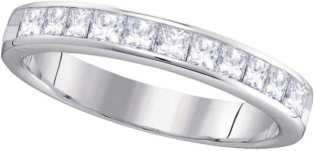 Jewels By Lux 14kt Detroit Mall White Gold Diamond Weddin Womens Ranking TOP16 Princess 4mm