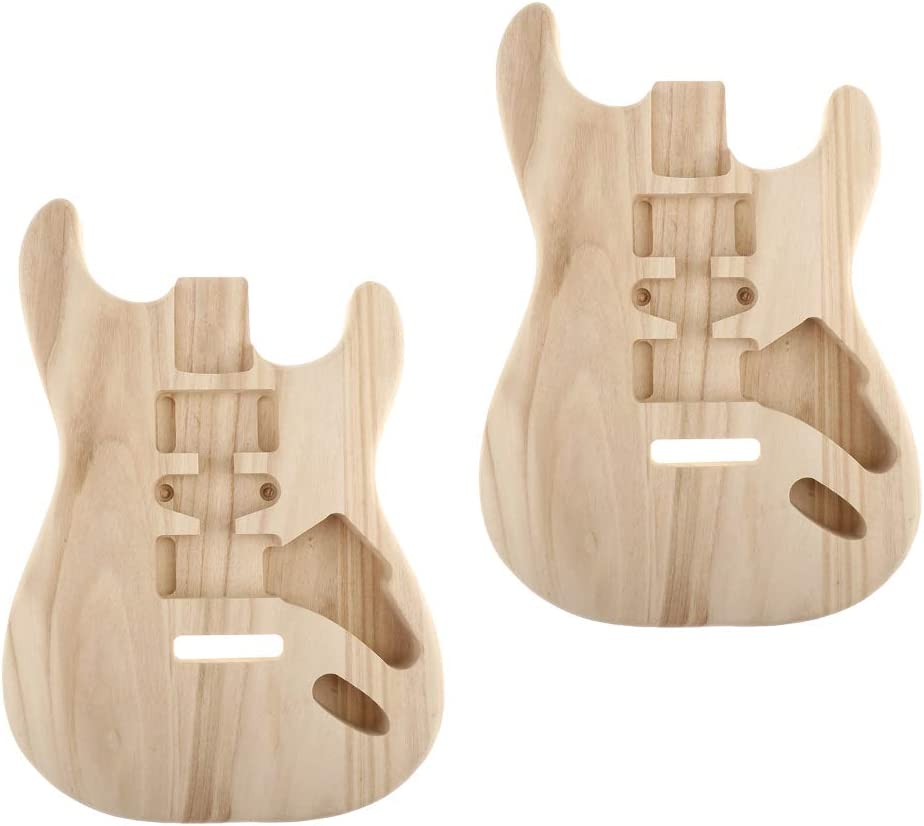 YIJU 2x Sycamore Unfinished Guitar for DIY Style Spring new work one after another ST Body Max 76% OFF