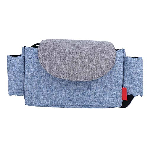 Bolsa de almacenamiento Organizador de cochecito de bebé de gran capacidad Estuche de almacenamiento de pañales, para la mayoría de los cochecitos de bebé y carritos, suave(Azul vaquero)