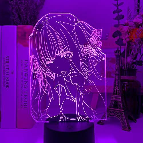 Nino Nakano 3D The Quintessential Quintuplets LED Nachtlicht für Schlafzimmer Dekor Nachtlicht Geburtstagsgeschenk Anime Lampe Nino Nakano